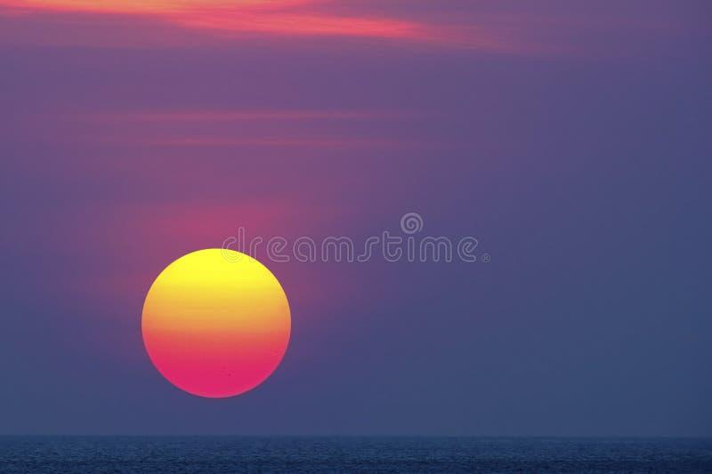 Восход солнца в Бали стоковые фотографии rf