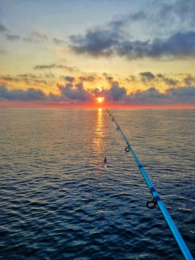 Восход солнца в Саленто стоковое изображение rf