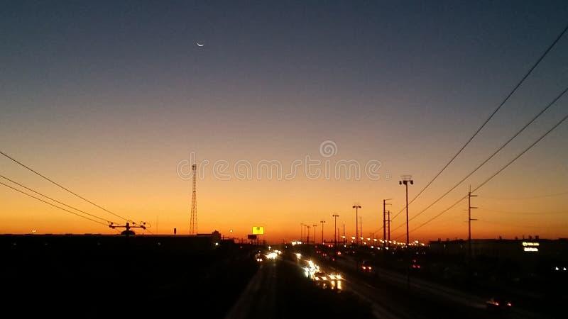 Восход солнца в Сьюдад-Хуарес, Chih стоковое изображение rf