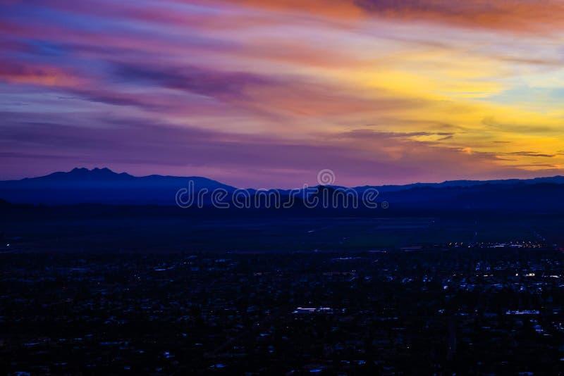 Восход солнца в Фениксе, Аризоне стоковое изображение