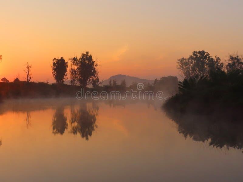 Восход солнца в Bandipur стоковое изображение