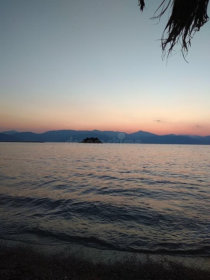 Восход солнца в nauplio стоковые изображения