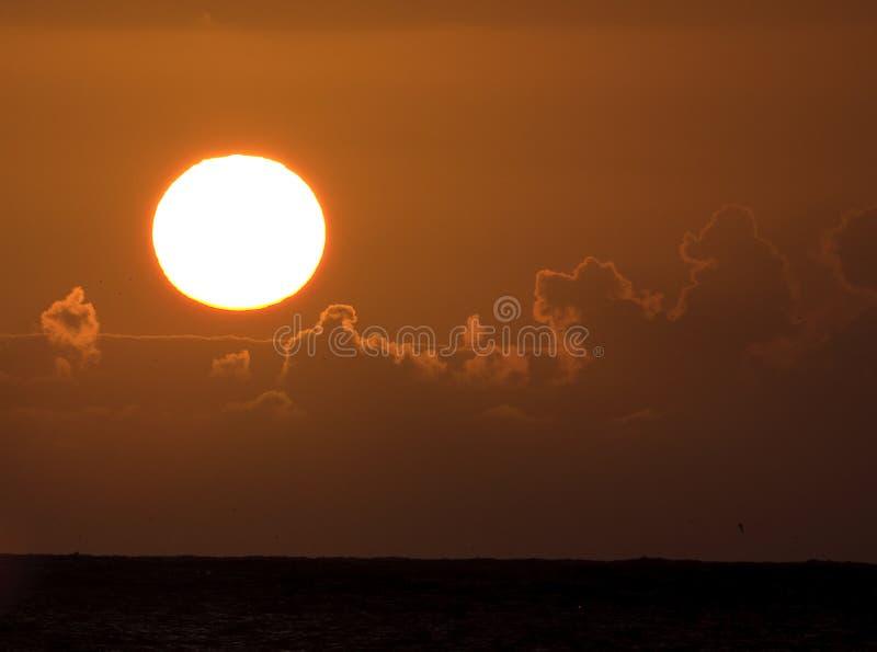 восход солнца Гавайских островов pacific стоковое изображение rf
