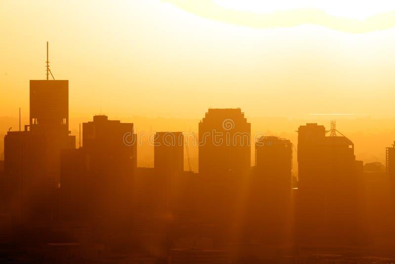 восход солнца города стоковое изображение