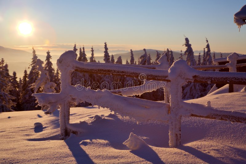 восход солнца гор стоковое фото
