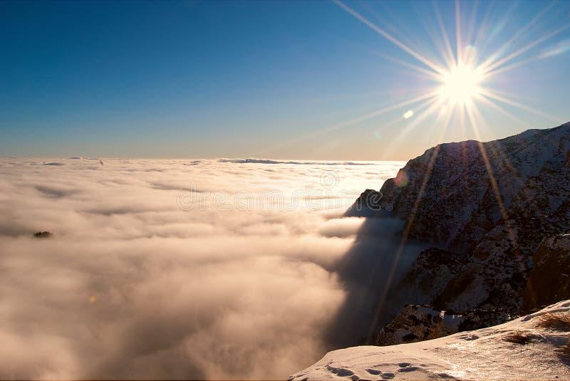 восход солнца гор bucegi стоковые фотографии rf