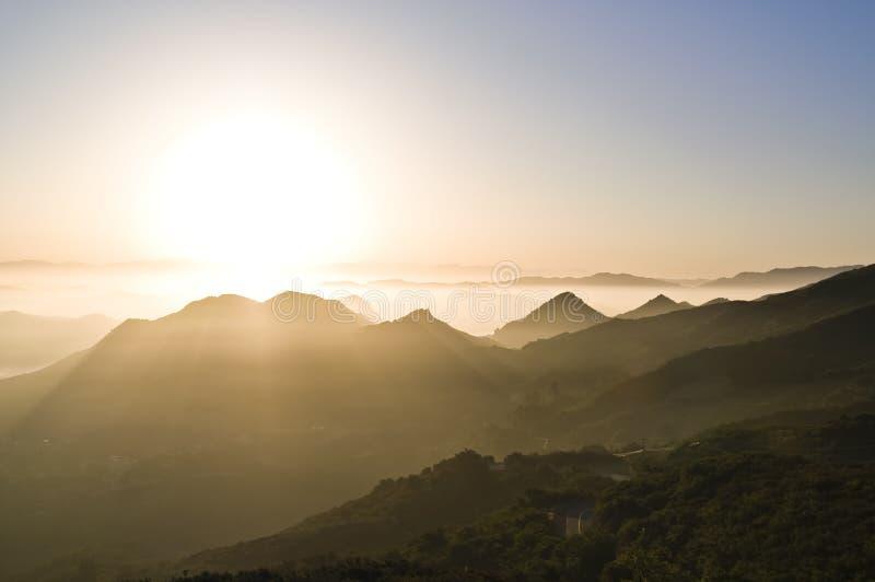 восход солнца каньонов стоковые фотографии rf
