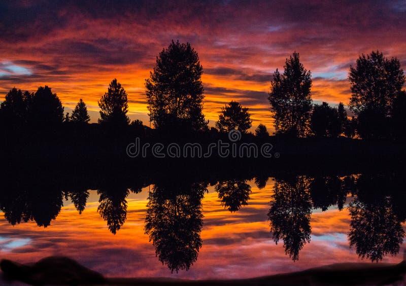 Восход солнца Колорадо, Broomfield, Колорадо стоковые изображения