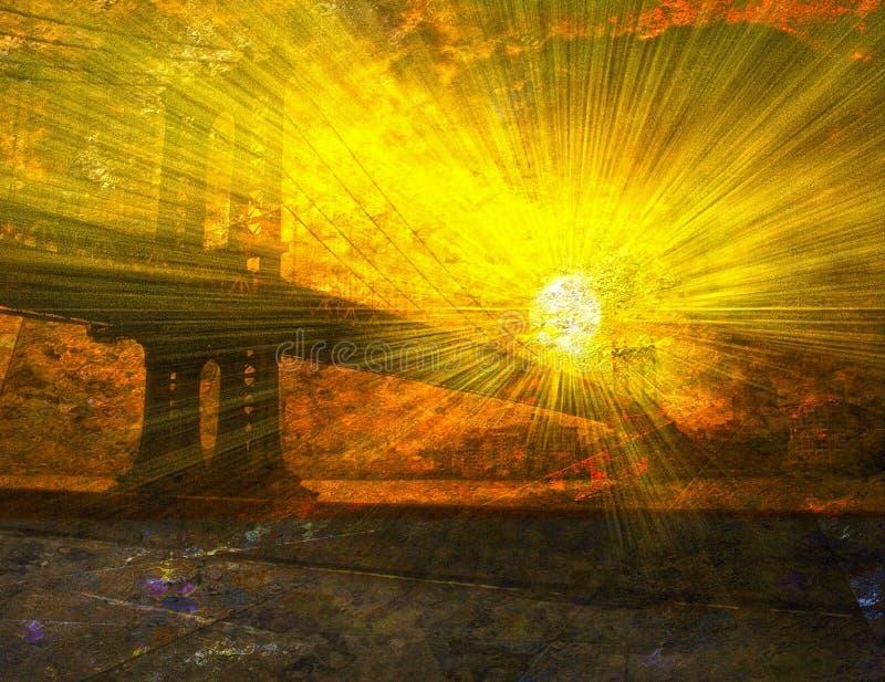 Восход солнца Манхаттана бесплатная иллюстрация