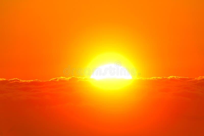 восход солнца моря свободного полета стоковое изображение rf