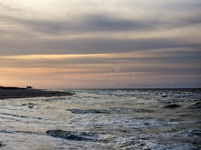 Восход солнца на Мексиканском заливе стоковые изображения
