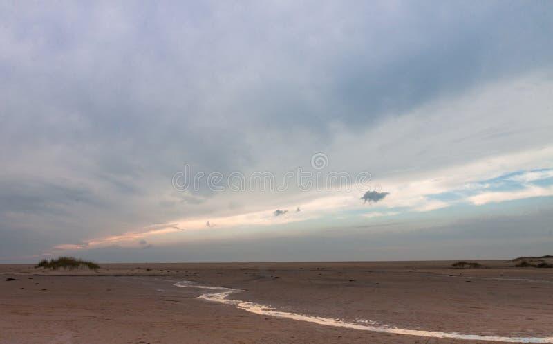 Восход солнца на охраняемой природной территории соотечественника Assateague стоковые фотографии rf