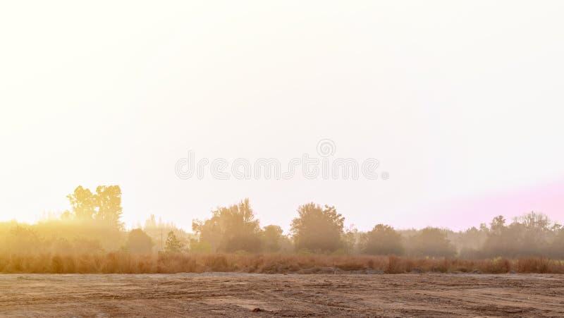 Восход солнца на утре стоковое изображение rf