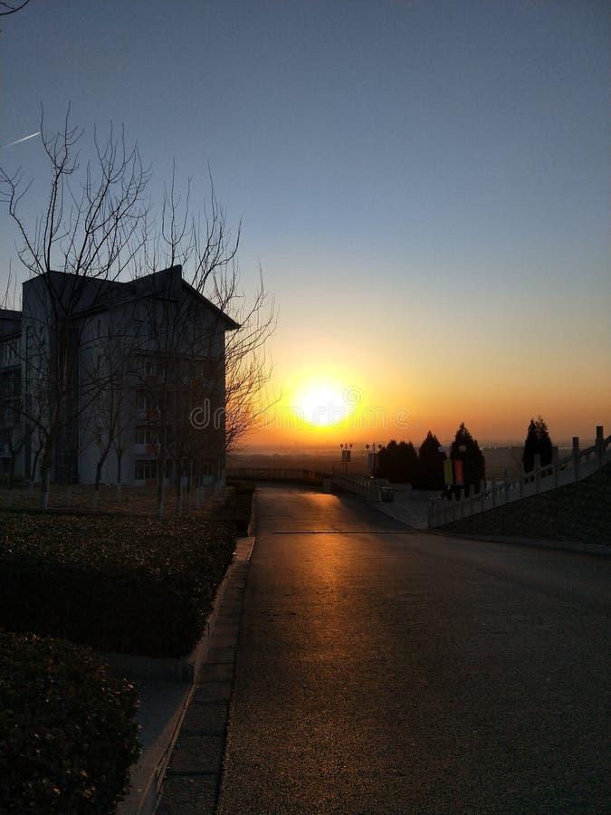 восход солнца на 7AM стоковая фотография rf