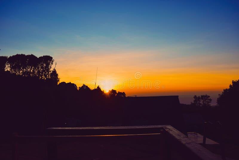 Восход солнца на Mount Kilimanjaro, Танзании стоковая фотография rf