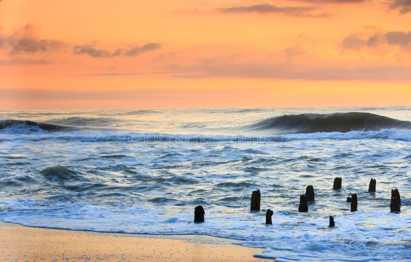 Восход солнца океана Северной Каролины Гаттераса стоковые фото