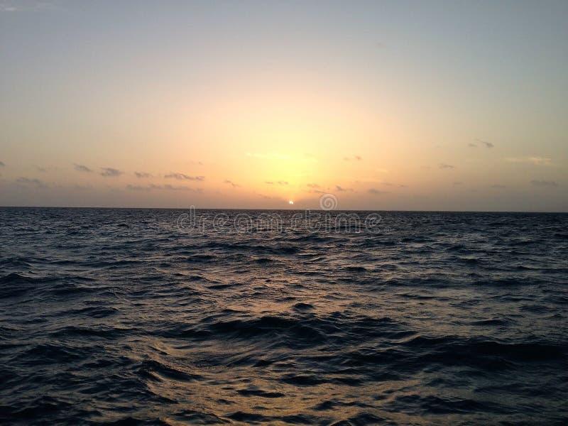 Восход солнца от чеканщика Caye стоковая фотография