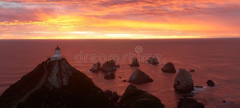 восход солнца пункта наггета маяка стоковые изображения