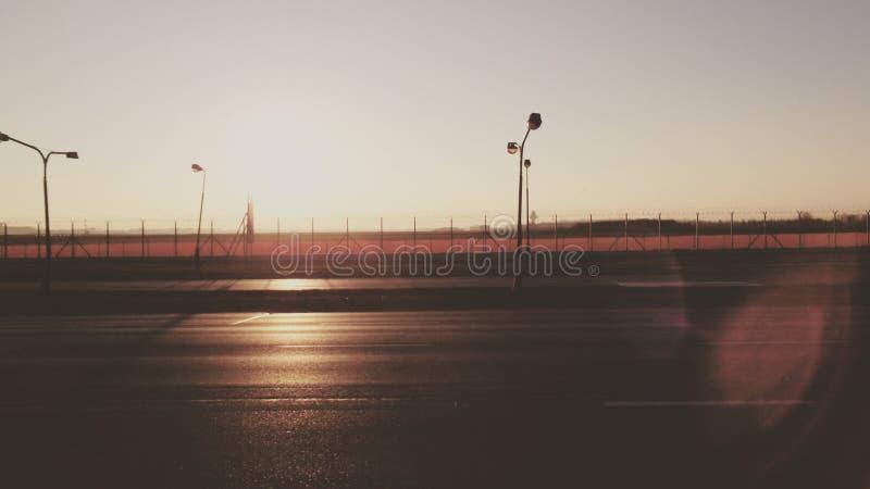 Восход солнца самолетов стоковая фотография
