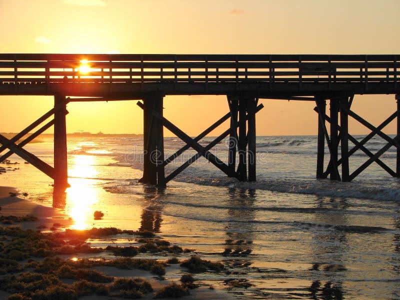 восход солнца стыковки стоковые фото