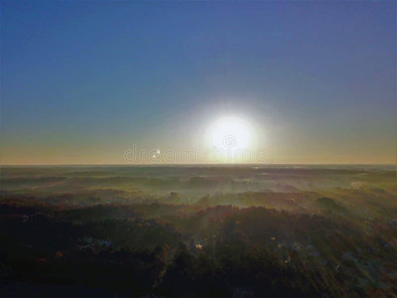 Восход солнца утра в Suwanee Georgia стоковые изображения rf