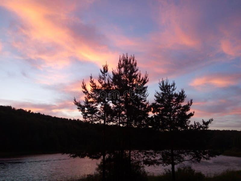 Восход солнца цвета порошка стоковая фотография rf
