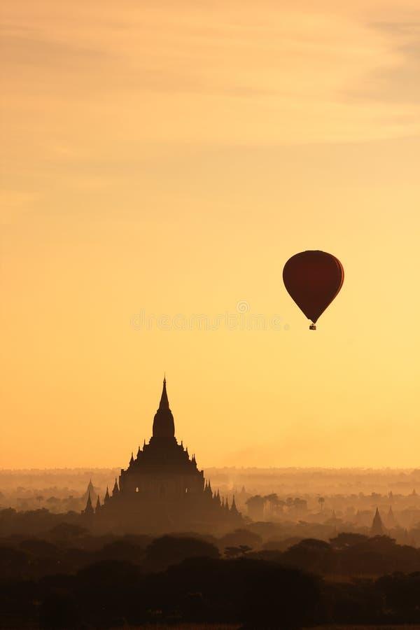 восход солнца bagan2 myanmar стоковое фото