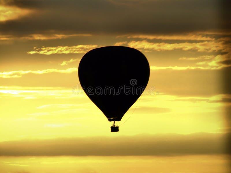 восход солнца ballon стоковое изображение rf