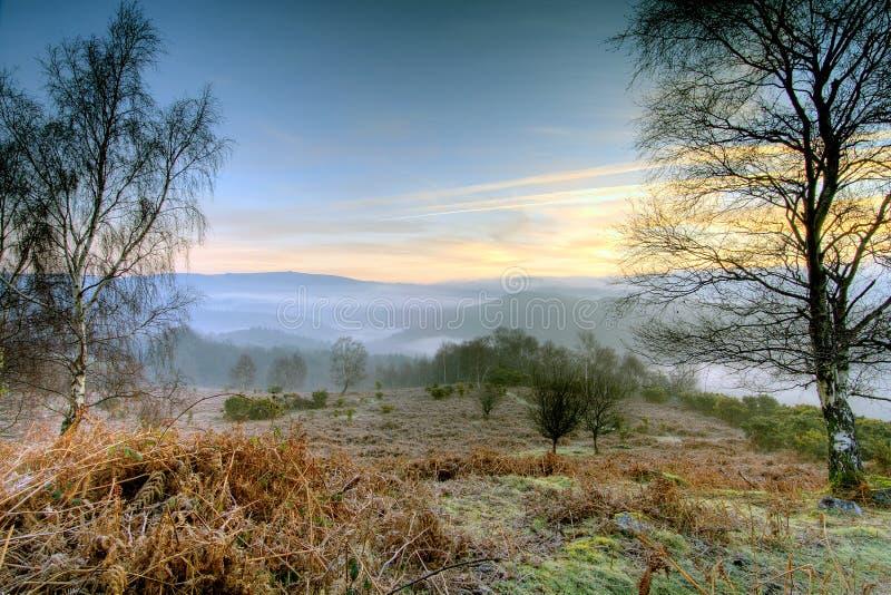 восход солнца dartmoor стоковая фотография