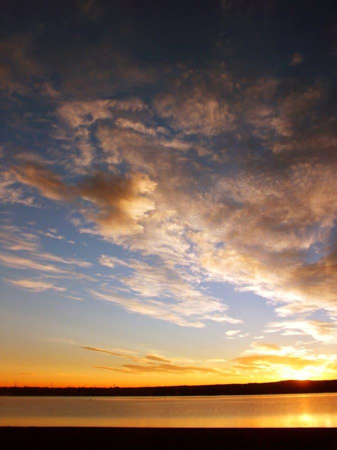 восход солнца denver пляжа стоковое фото rf