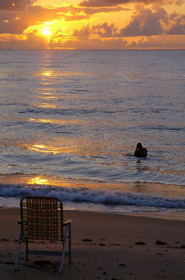 восход солнца florida стоковое изображение rf