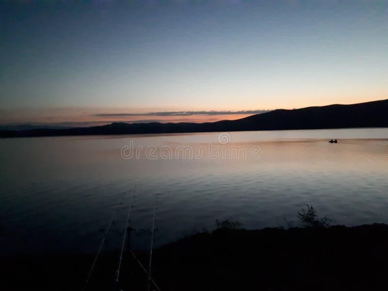 Восход солнца jezero Vransko стоковые фотографии rf