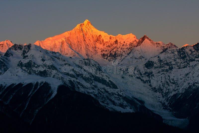 восход солнца jokul стоковое фото rf
