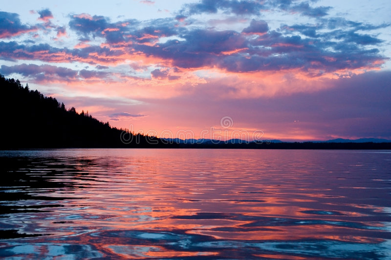 восход солнца leigh озера стоковые фото