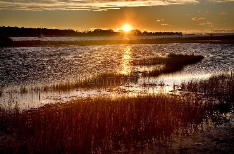 восход солнца padnaram massachusetts гавани стоковая фотография rf