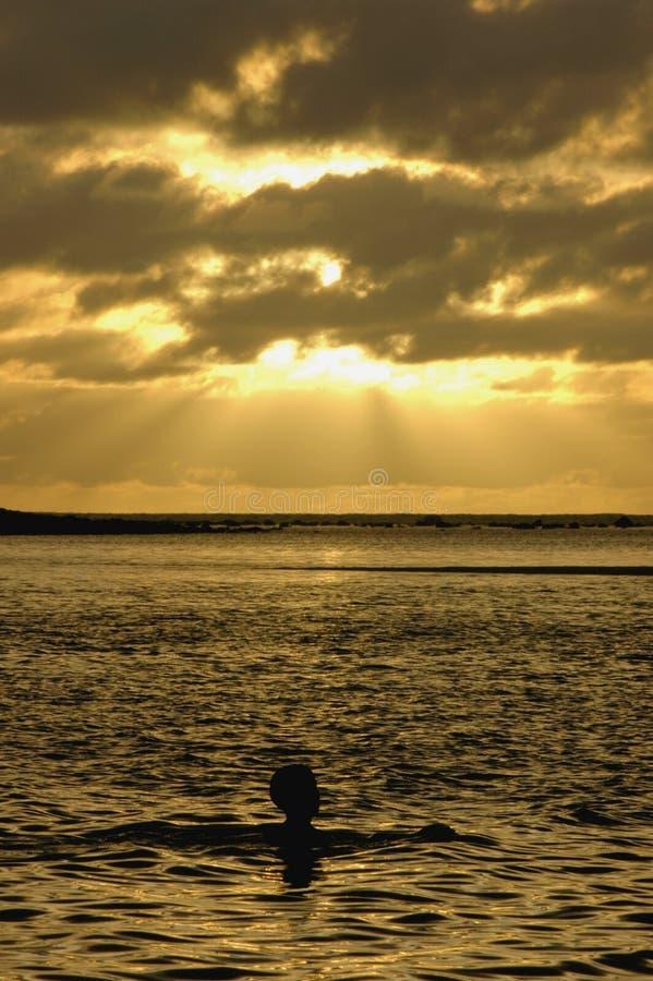 восход солнца rarotonga 4 стоковые изображения rf