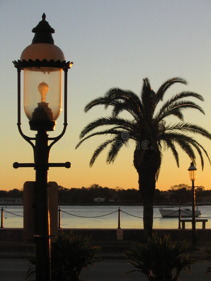 восход солнца st augustine стоковая фотография rf