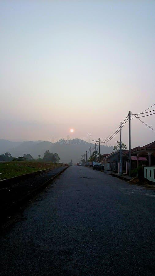 Восход солнца Азия стоковое фото
