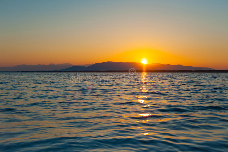 Восход солнца Байкала стоковое фото rf