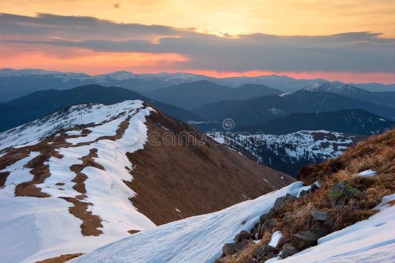 Восход солнца весны стоковое фото rf