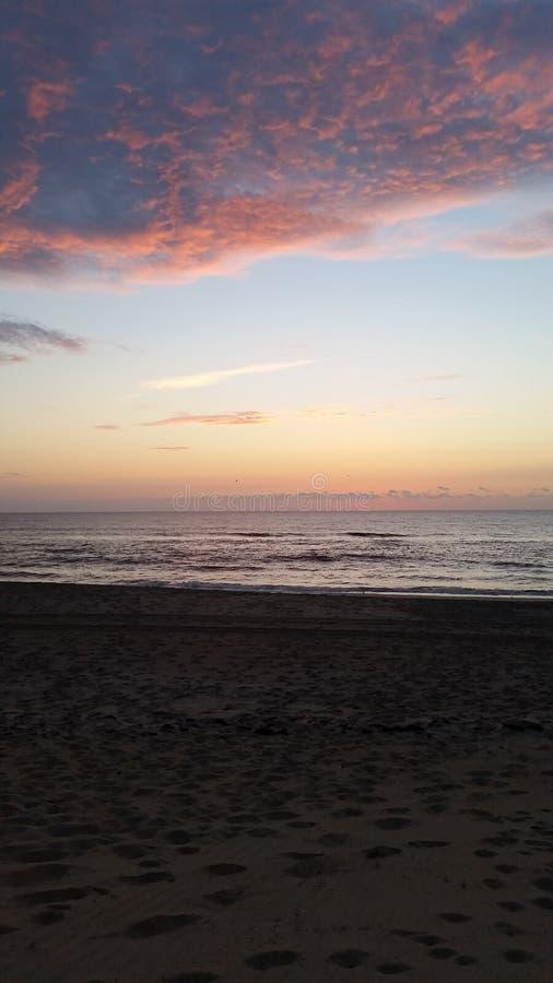 Восход солнца в наружных банках стоковая фотография rf