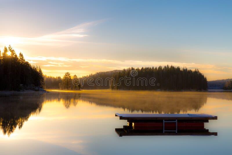Восход солнца в ноябре стоковая фотография rf