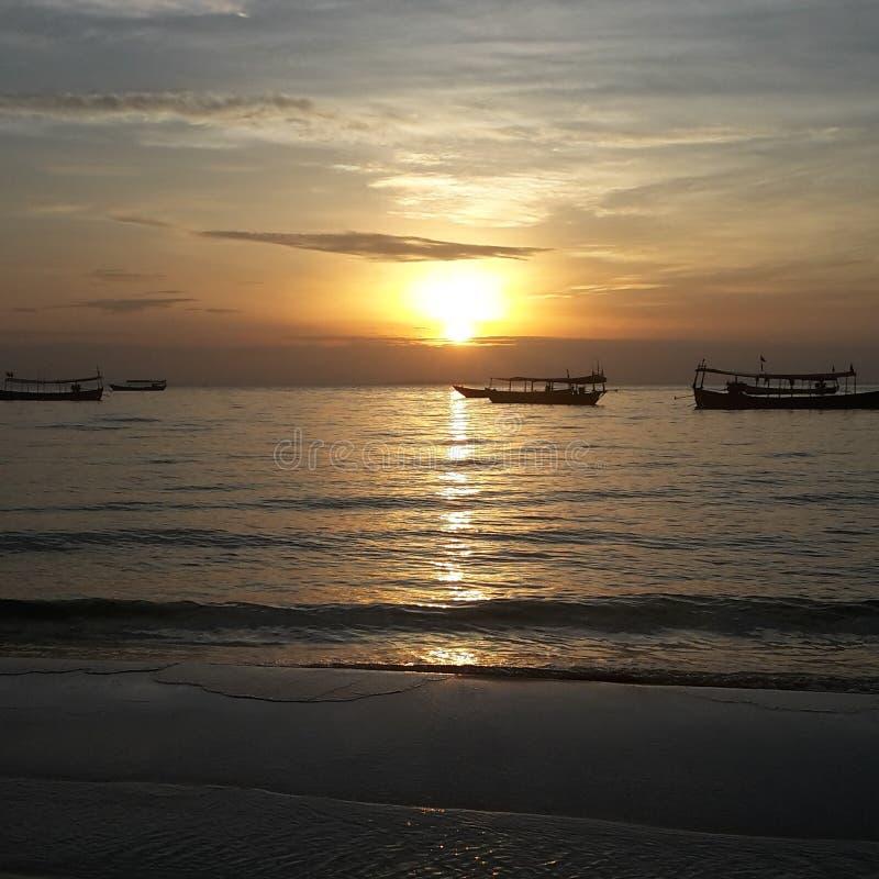 Восход солнца в рае стоковые фото