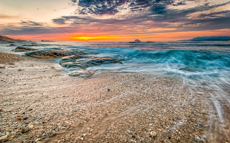 Восход солнца в северо-восточном побережье Тайваня стоковое изображение