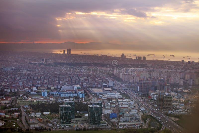 Восход солнца в Стамбуле стоковые фотографии rf