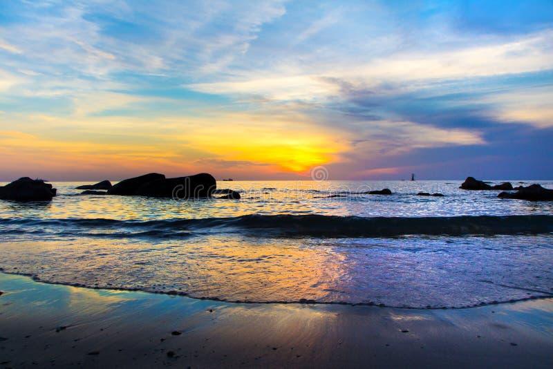 Восход солнца в Таиланде стоковая фотография
