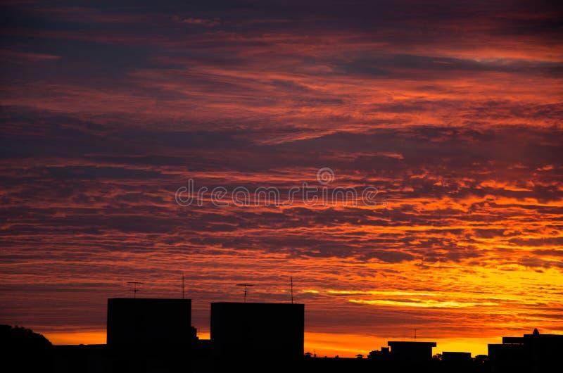 Восход солнца в Caxias делает Sul стоковая фотография