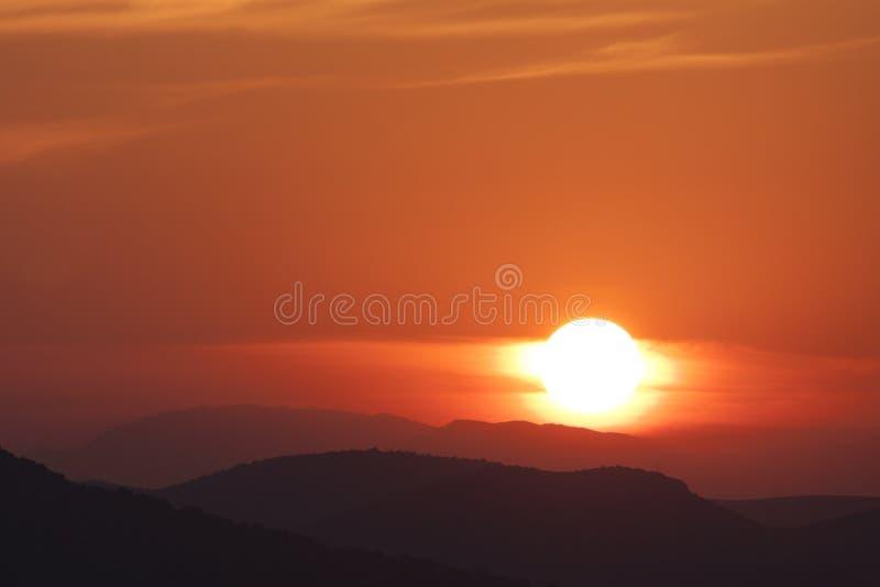 Восход солнца в Murter - Хорватии стоковые фото