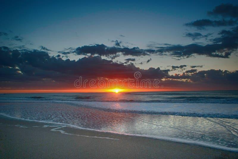 Восход солнца в Pinamar, Аргентине стоковое фото rf