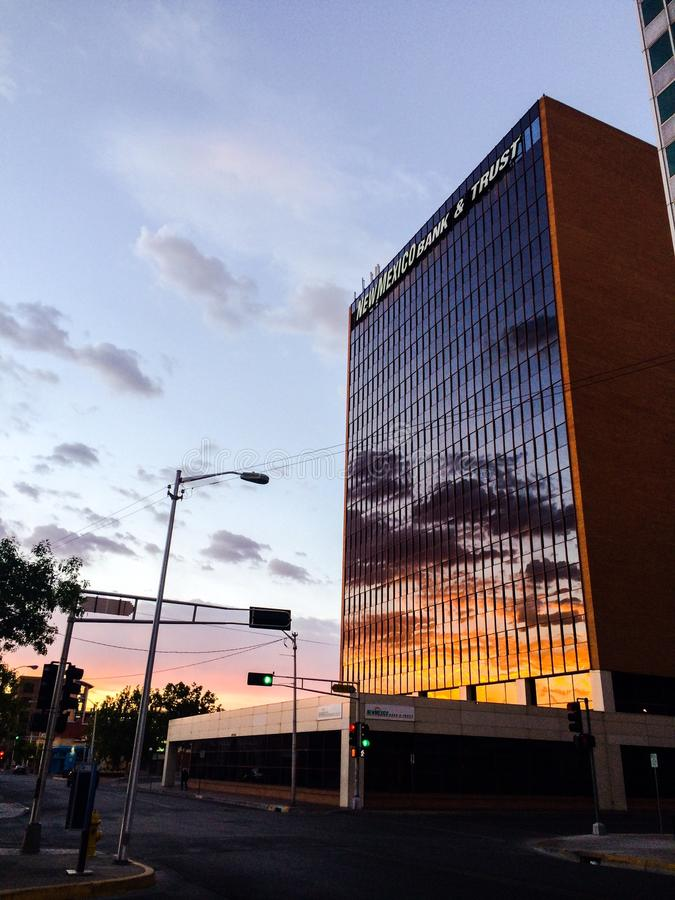 Восход солнца городской стоковая фотография